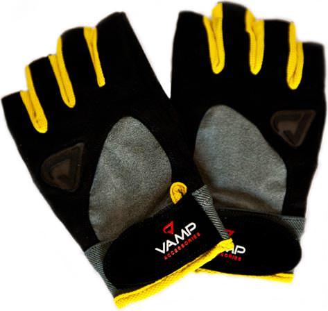 Спортивные перчатки Black Yellow Gloves от Vamp