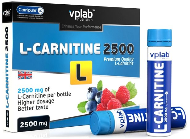 Карнитин VPLab L-Carnitine 2500 (7 амп)