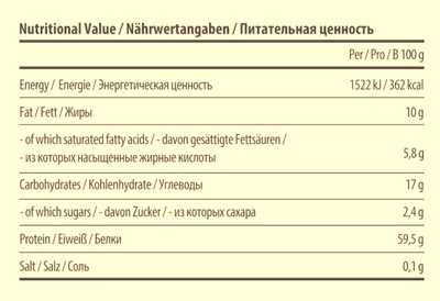 Состав 60% Protein Bar от Vplab