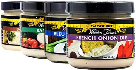 Бескалорийные дип-соусы для овощей и хлеба Veggie & Chip Dips от Walden Farms